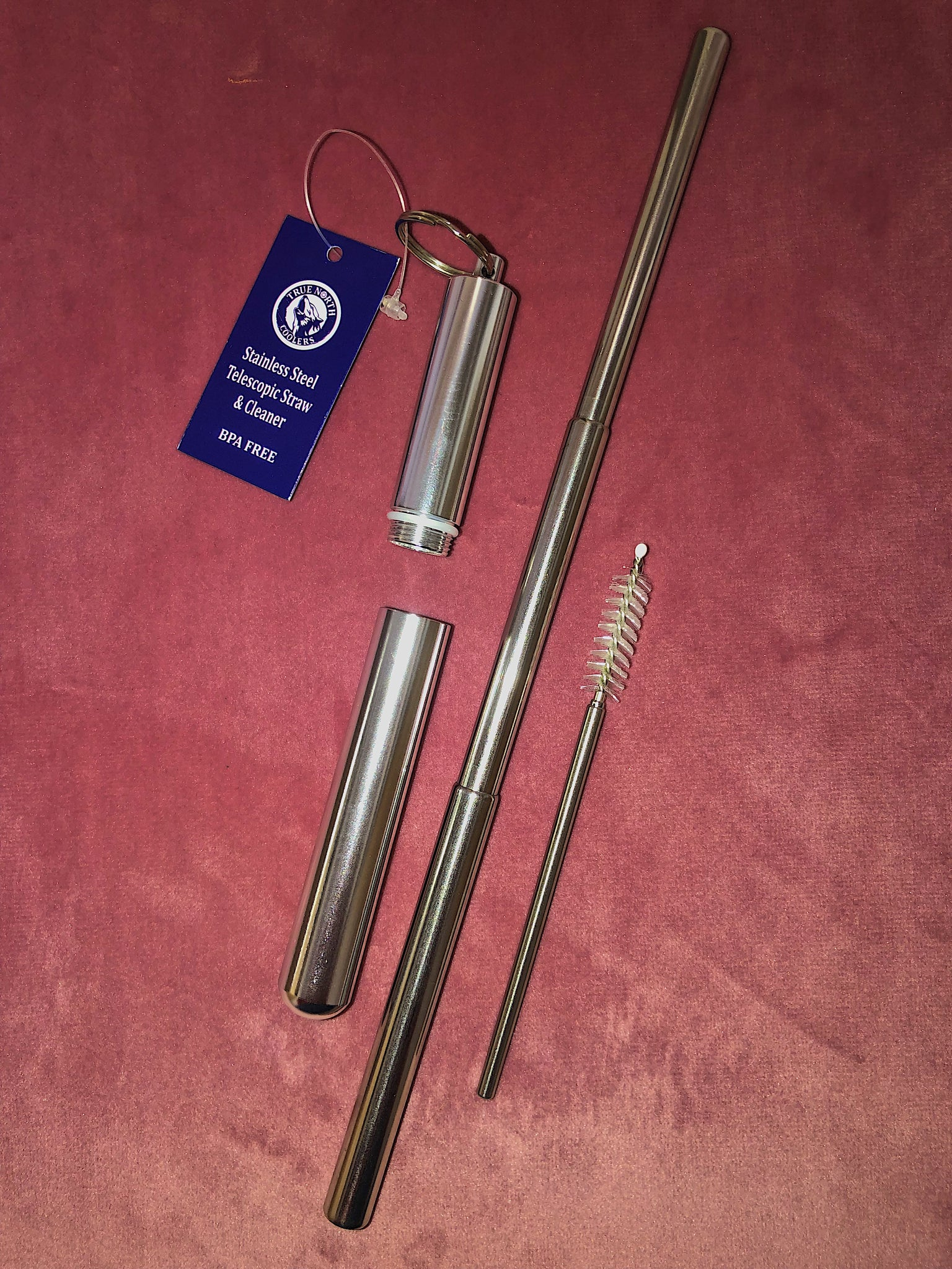 Stainless Steel Telescopic Straw & Cleaner