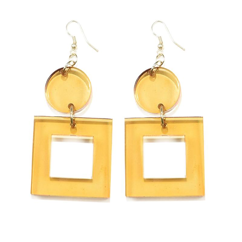 Lucite Square Earrings