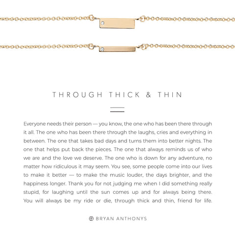Through Thick and Thin Necklace Set