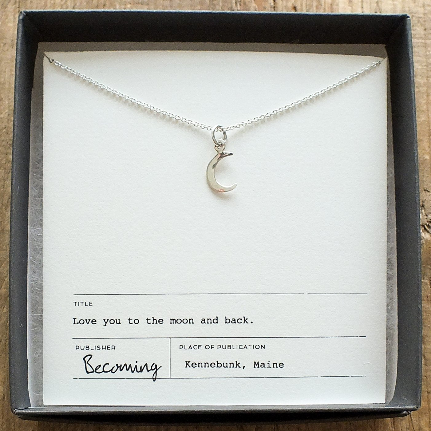 Becoming Love You To The Moon Necklace