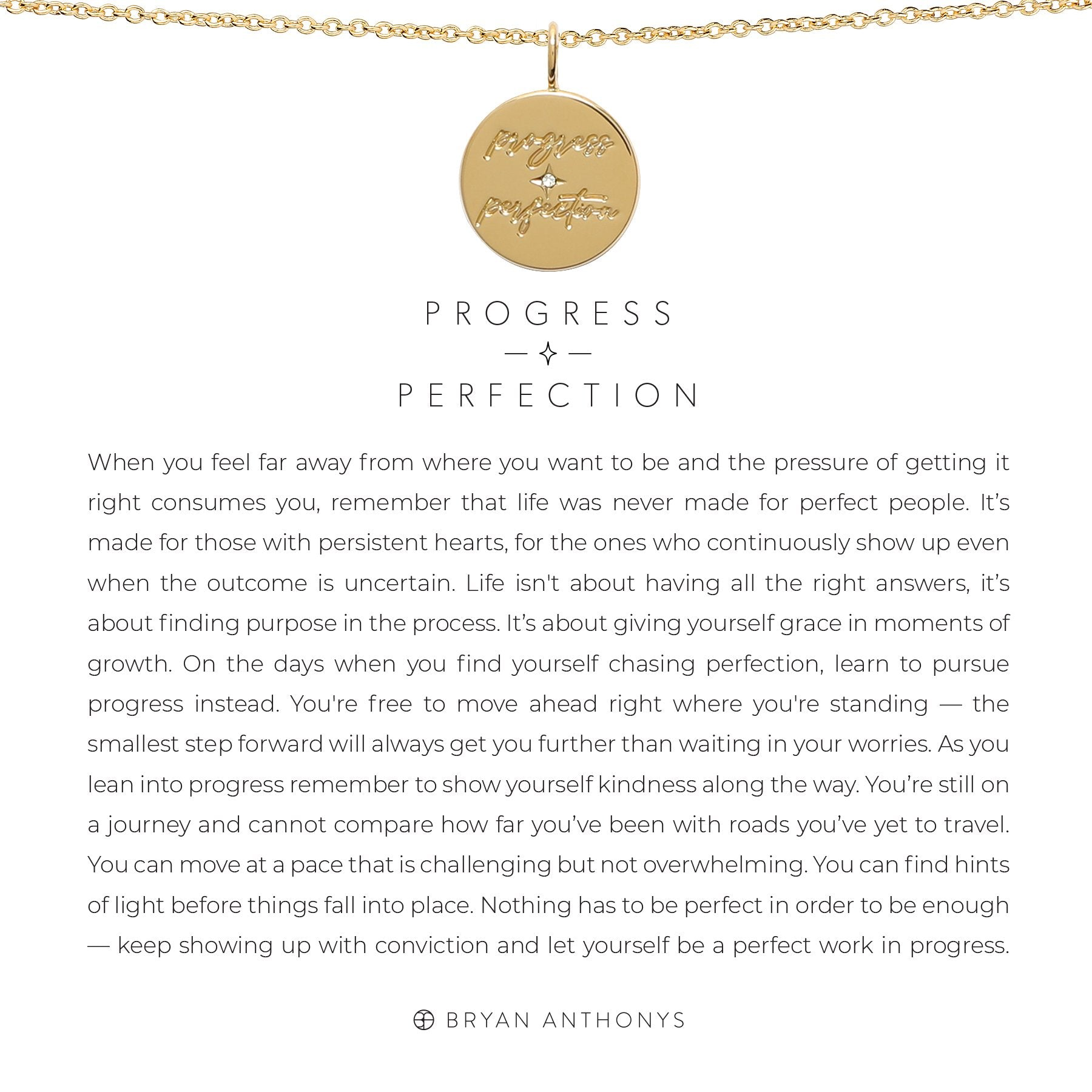 Progress Over Perfection Necklace