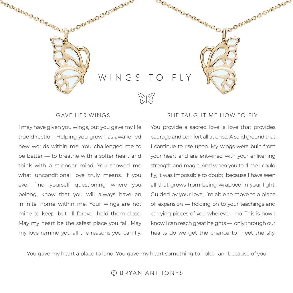 Wings To Fly Necklace Set