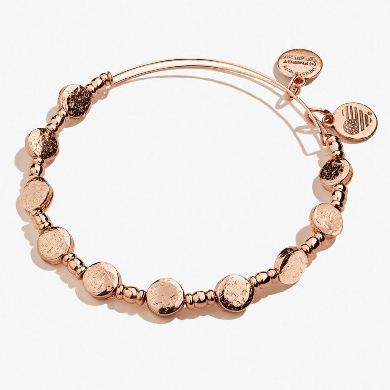 Coin Metal Beaded Expandable Bangle