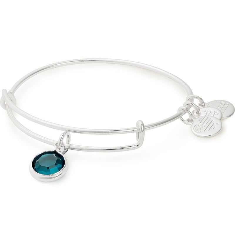 Emerald (May) Birthstone Charm Bangle