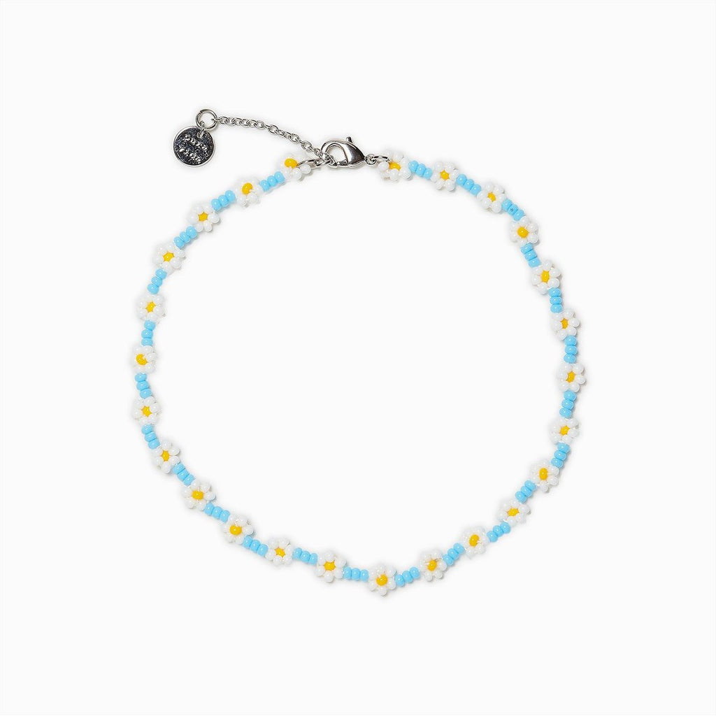 Daisy Seed Bead Anklet