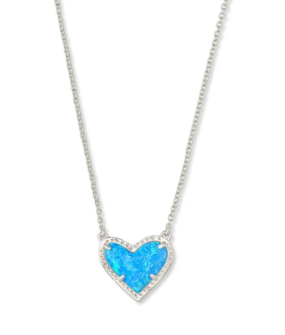 Ari Heart Pendant Necklace - Silver