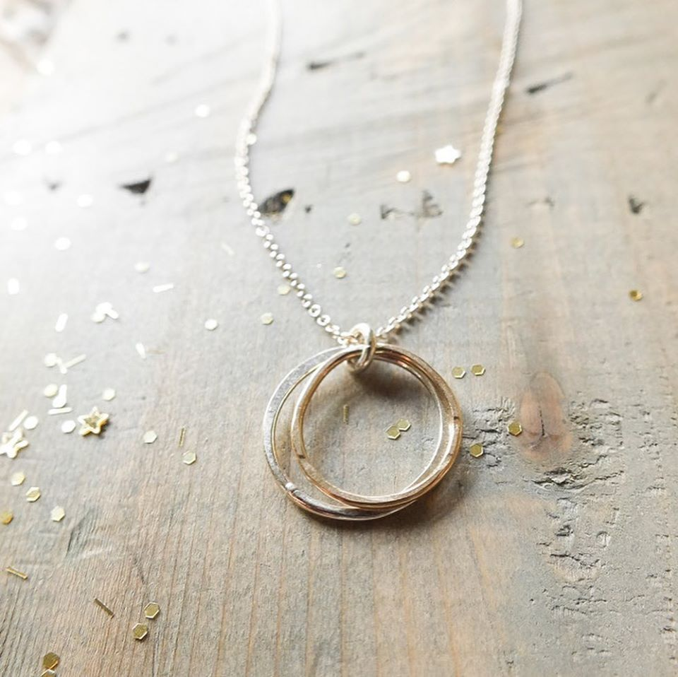 Becoming Double Circles Sister Necklace