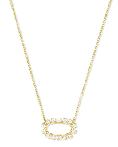 Elisa Open Frame Crystal Necklace