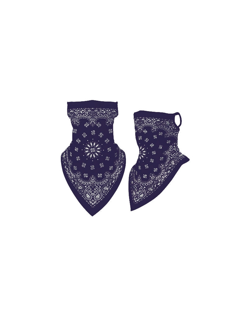 Navy Paisley Gaiter Neck/Face Mask