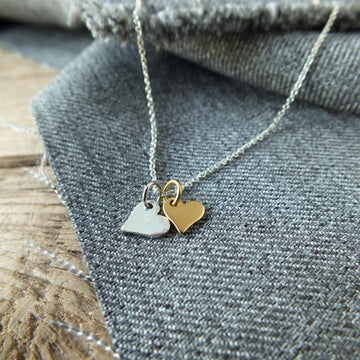 Becoming Double Heart Necklace