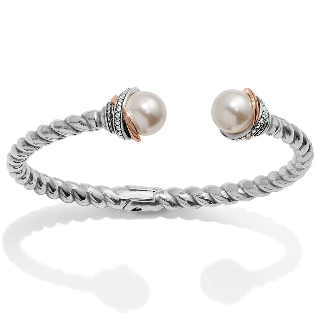 Neptune's Rings Pearl Open Hinged Bangle
