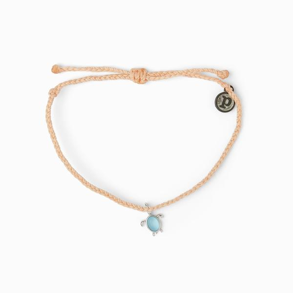 Save the Sea Turtles Charm Bracelet - Silver