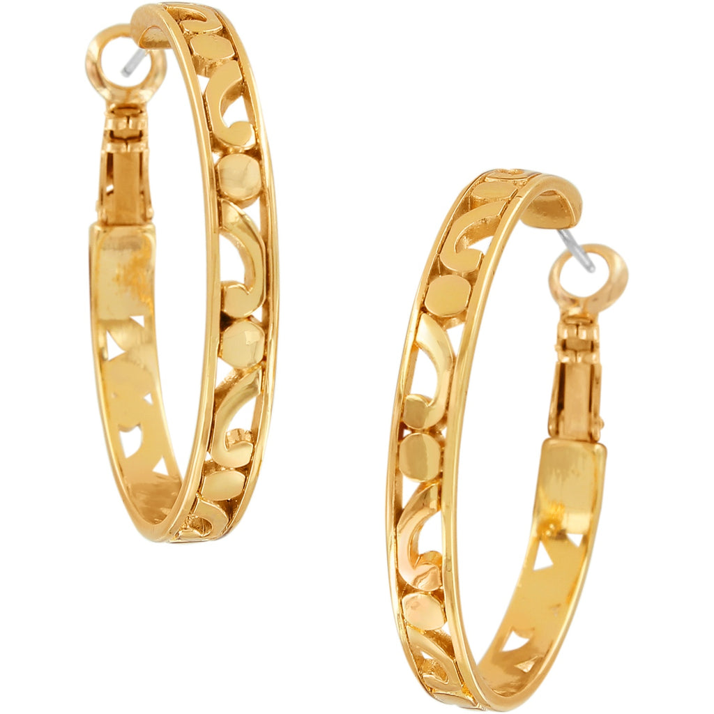 Contempo Medium Hoop Earrings