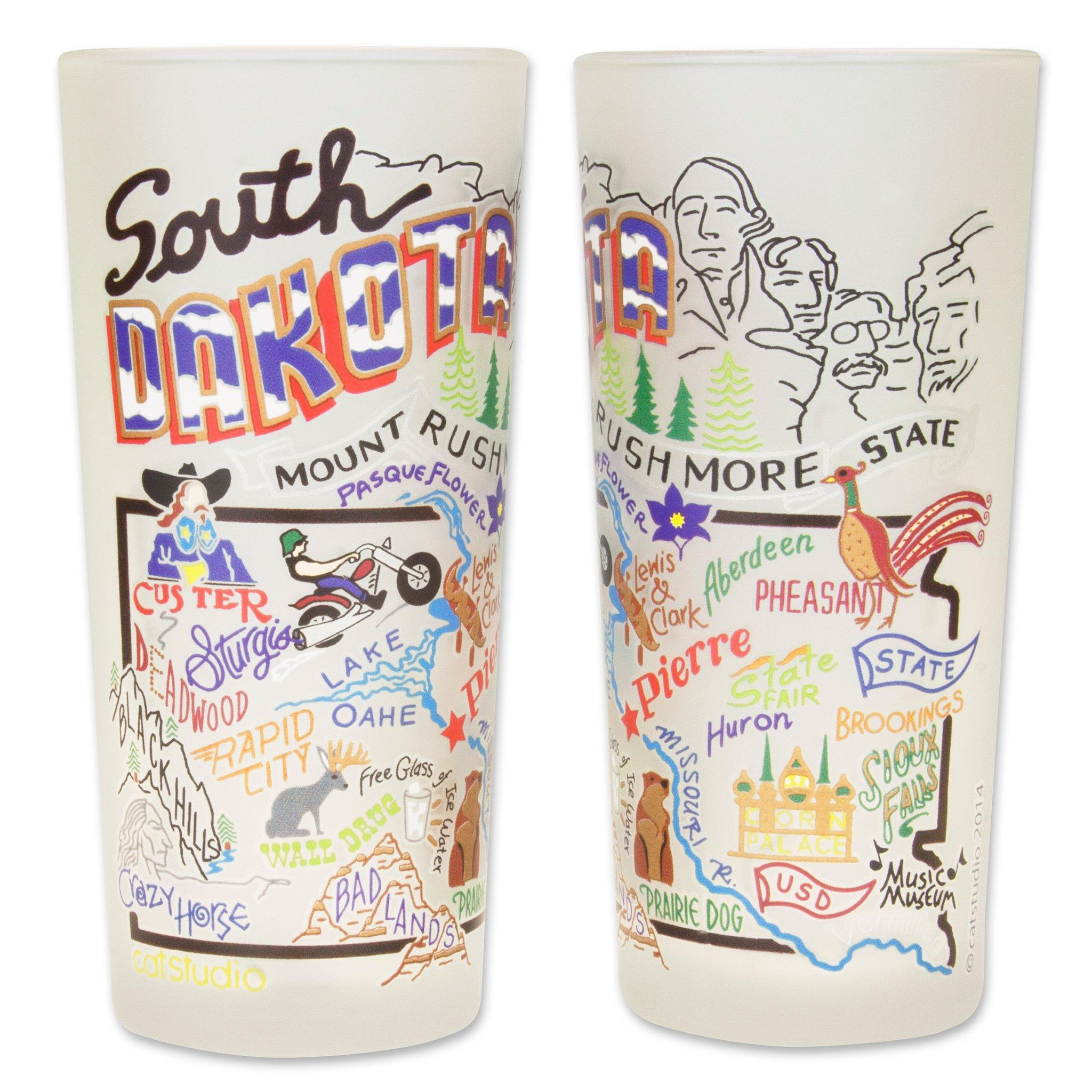 South Dakota Drinking Glass