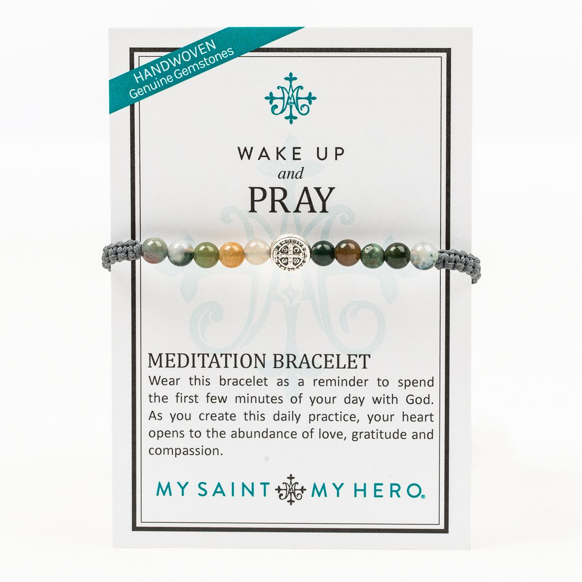 My Saint My Hero Wake Up and Pray Bracelet