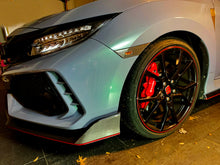 Load image into Gallery viewer, Real Carbon fiber Front bumper skirt overlay trim Fit Honda Civic Type R FK8 2017 2018 2019 2020