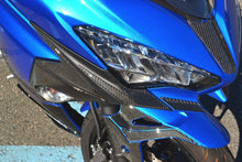 Load image into Gallery viewer, Fit Kawasaki Ninja 400 2018 Real CARBON FIBER Head light fairing sharp trim kit