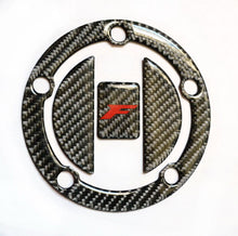 Load image into Gallery viewer, CARBON FIBER Tank Cap Filler Cover Sticker fits Suzuki GSX-F 650 GSXF 1250FA