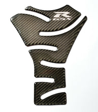 Load image into Gallery viewer, Suzuki GSX-R Real Carbon Fiber +chrome logo Tank Protector Pad sticker trim USA
