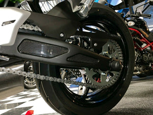Real carbon fiber Fit Kawasaki Z650 rear suspension Trim KIT overlay