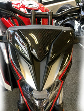 Load image into Gallery viewer, Real Carbon Fiber front light fairing trim fit Honda CB650F tank Protector pad