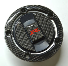 Load image into Gallery viewer, Real CARBON FIBER Tank Cap Cover Sticker fits Suzuki GSX-R 600 GSXR 750 1000