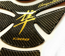 Load image into Gallery viewer, Fit Suzuki Hayabusa Wet Dry Carbon Fiber + Bronze Tank Protector Pad Sticker
