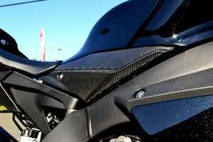 Real carbon fiber sides panel knee grip pad trim protector Fit Yamaha YZF-R1