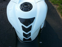 Load image into Gallery viewer, Real Carbon Fiber +chrome tank pad Protector +gas cap cover fits Yamaha YZF-R1