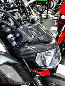 Real carbon fiber Fit Yamaha MT07 MT-07 FJ07 HEAD light fairing Trim full KIT