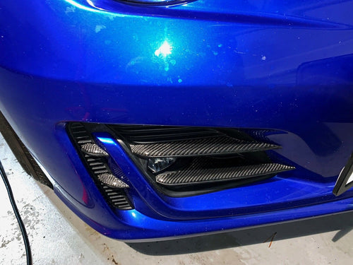 Real Carbon Fiber fog light housing trim inserts cover Fit Subaru BRZ Toyota 86