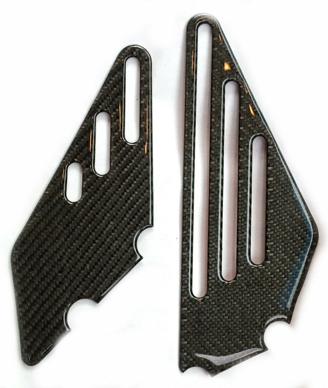 Real carbon fiber BOTH sides DRIVER FOOT PEG REST trim protector Ninja ZZR 1400