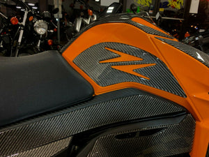 Fit Kawasaki Z125 Pro Dry CARBON FIBER tank knee grip pad protector trim kit