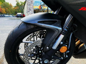 Fits Honda CBR1000RR 2017 2018 real carbon fiber front mudguard fender trim kit