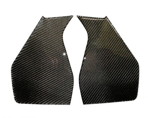 Fits Yamaha FZ09  MT09 real carbon fiber knee traction protector pad KIT tank