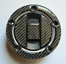 Load image into Gallery viewer, Real CARBON FIBER Tank Cap Filler Sticker fits Suzuki Bandit 1250S GSF1200S ABS