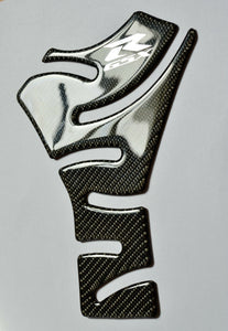 Suzuki GSX-R 600 GSX-R600 Authentic Carbon Fiber +chrome logo Tank Protector Pad