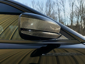 real Carbon Fiber rear view mirrors trim overlay Fit Dodge Charger SRT hellcat