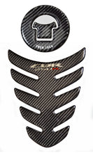 Load image into Gallery viewer, Honda CBR 250R CBR250 Real Carbon Fiber tank Protector pad & fuel cap cover trim