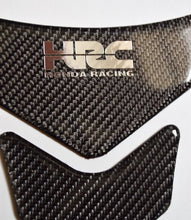 Load image into Gallery viewer, HONDA CBR 1000 600RR CB400 HRC logo Real Carbon fiber tank pad Protector Sticker