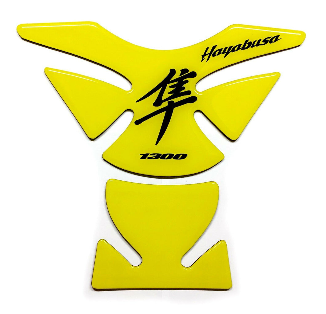 Suzuki Hayabusa lemon Yellow Glossy Tank Protector Pad Sticker trim guard decal