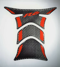 Load image into Gallery viewer, Yamaha R6 YZF R-6 Real Carbon Fiber red accent tank protector pad Decal sticker