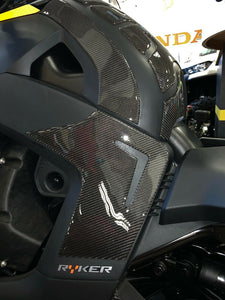 Fit Can-Am RYKER BRP 2019 Real CARBON FIBER Knee traction pad protector trim kit