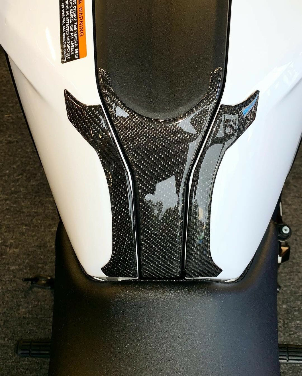 Real carbon fiber Fit Yamaha MT07 MT-07 tank Protector pad Sticker Trim Decal