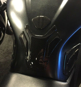Kawasaki Ninja 300 ABS Real Carbon Fiber tank pad Protector & Knee traction Pads