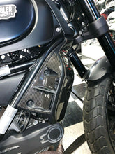 Load image into Gallery viewer, Fit Ducati SCRAMBLER Real Carbon Fiber Radiator Side Cover Guard Fairing trim
