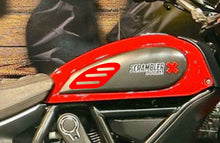 Load image into Gallery viewer, Ducati SCRAMBLER RED SHORT tank Protector pad + Knee grip pads Decal Sticker