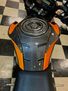 Fit Kawasaki Z125 Pro Dry CARBON FIBER  tank pad protector only trim kit