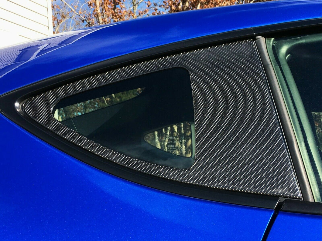 Real Carbon Fiber rear window glass overlay trim kit Fit Subaru BRZ Toyota 86