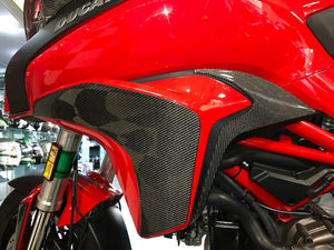 Fit Ducati Multistrada 1200 dry CARBON FIBER sides knee panel Fairing overlay